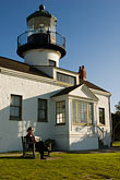 beacon stock photography | California, Pacific Grove, Point Pinos Lighthouse, image id 4-990-7792