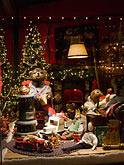 vertical stock photography | Still Life, Shop window, Christmas decorations, image id 4-992-115