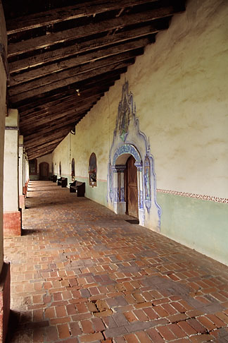 image 5-120-2 California, Missions, Colonnade, Mission San Miguel Arcangel