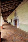 el camino real stock photography | California, Missions, Colonnade, Mission San Miguel Arcangel, image id 5-120-2