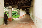 horizontal stock photography | California, Missions, Colonnade, Mission San Miguel Arcangel, image id 5-120-20