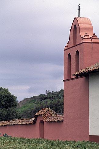 image 5-121-14 California, Missions, Roof of La Purisima Mission church