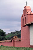 vertical stock photography | California, Missions, Roof of La Purisima Mission church, image id 5-121-14