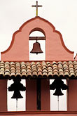 vertical stock photography | California, Missions, Bell Tower, La Purisima Mission, image id 5-121-9
