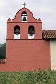 vertical stock photography | California, Missions, Bell Tower, La Purisima Mission, image id 5-124-10