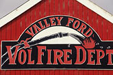 horizontal stock photography | California, Sonoma County, Fire station, Valley Ford, image id 5-321-16