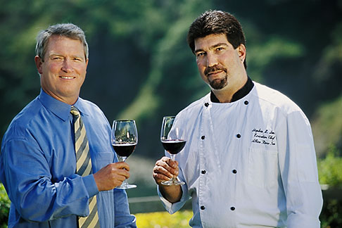image 5-640-29 California, Mendocino County, Albion River Inn, Mark Bowery, Sommelier, and Stephen Smith, Executive Chef