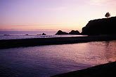 dusk stock photography | California, Mendocino County, Navarro River Redwoods State Park, Beach at sunset, image id 5-641-11