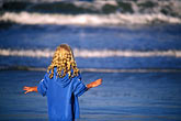 wave stock photography | California, Santa Cruz County, Pajaro Dunes, Girl on beach, image id 5-672-31