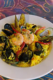 fish restaurant stock photography | California, Moss Landing, Seafood paella, image id 5-672-62