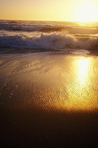 image 5-673-94 California, Moss Landing, Salinas River State Park, Beach at sunset