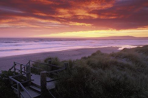 image 5-673-96 California, Santa Cruz County, Pajaro Dunes, Sunset on beach