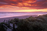 shore stock photography | California, Santa Cruz County, Pajaro Dunes, Sunset on beach, image id 5-673-96
