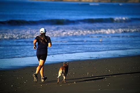 image 5-791-44 California, Stinson Beach, Running on the beach