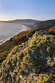 beach at sunset stock photography | California, Stinson Beach, View from hillside at sunset, image id 5-791-93