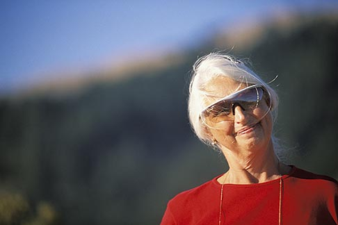 image 5-792-55 California, Senior woman with sunglasses, direct view