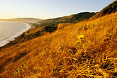sunset at beach stock photography | California, Stinson Beach, View from hillside at sunset, image id 5-792-6