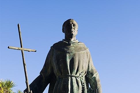 image 5-810-1513 California, Carmel, Statue of Junipero Serra outside Carmel Mission