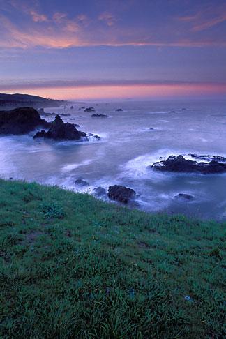 image 6-145-14 California, Sonoma County, Dawn on Sonoma Coast