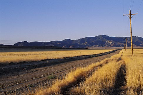 image 6-253-30 Nevada, Highway 50, Morning light, Lander County