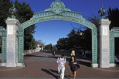 image 6-355-25 California, Berkeley, University of California, Sather Gate