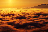 dusk stock photography | California, Mt. Diablo, Mount Diablo and fog over valley, image id 6-358-2