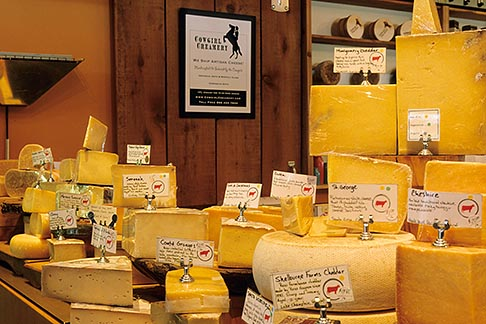 image 6-420-5 California, Point Reyes, Cowgirl Creamery, Ann Grymes shopping for cheese