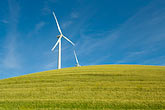 horizontal stock photography | California, Solano County, Wind Turbines on hillside, image id 6-462-6840