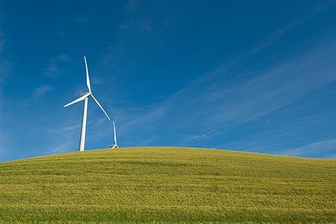 image 6-462-6843 California, Solano County, Wind Turbines on hillside