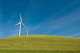horizontal stock photography | California, Solano County, Wind Turbines on hillside, image id 6-462-6843