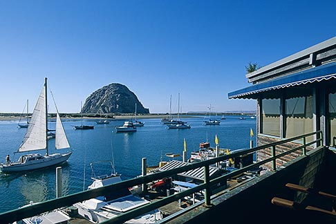 image 6-471-63 California, Morro Bay, Waterfront restaurant, Window on the Water