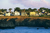 bluff stock photography | California, Mendocino , Town center and coastal bluff, image id 6-485-31