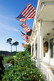 american flag stock photography | California, Mendocino  County, Little River Inn, image id 6-485-69