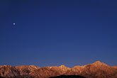 blue sky stock photography | California, Sierra Nevada, Moon over Lone Pine Peak , image id 7-265-28