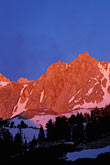 mt whitney stock photography | California, Mt. Whitney, Sunrise on Sierra Crest, image id 7-267-37