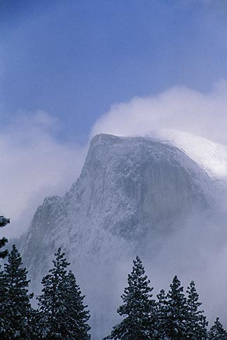 image 7-583-19 California, Yosemite National Park, Half Dome in winter