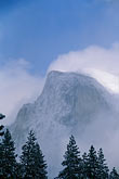vertical stock photography | California, Yosemite National Park, Half Dome in winter, image id 7-583-19