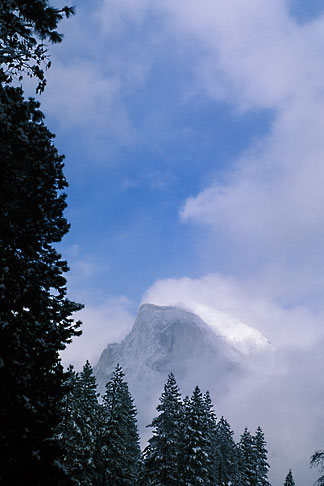 image 7-583-24 California, Yosemite National Park, Half Dome in winter