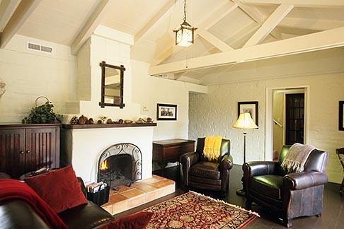 image 7-600-36 California, Santa Cruz, The Adobe on Green Street, Living Room