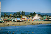 seashore stock photography | California, Santa Cruz, Santa Cruz Boardwalk and beach, image id 7-601-18