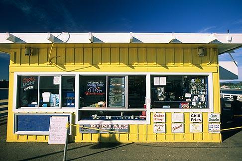 image 7-601-27 California, Santa Cruz, Santa Cruz Wharf, Snack Bar