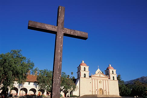 image 9-575-64 California, Missions, Mission Santa Barbara