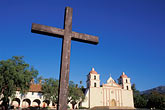 old stock photography | California, Missions, Mission Santa Barbara, image id 9-575-64
