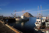 rock stock photography | California, San Luis Obispo County, Fishing boats, Morro Bay, image id 9-609-22