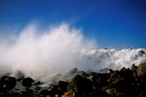 rock stock photography | California, San Luis Obispo County, Heavy surf, Morro Bay, image id 9-609-35