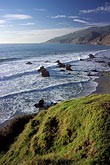 wave stock photography | California, Big Sur, Sunset, Kirk Creek, Lucia, image id 9-609-54