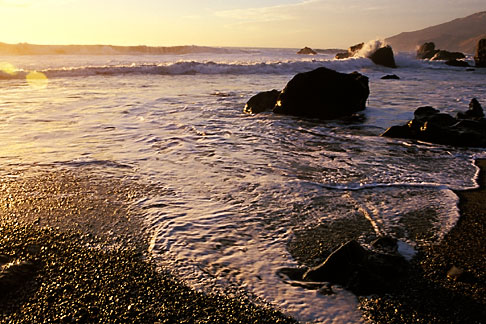 image 9-609-60 California, Big Sur, Sunset, Kirk Creek, Lucia