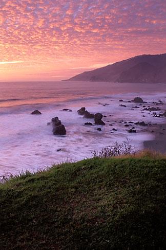 image 9-609-84 California, Big Sur, Sunset, Kirk Creek, Lucia