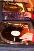 spin stock photography | California, Oakland, DJ at the turntables, image id S3-202-16