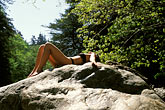 lady stock photography | California, Big Sur, Sun bathing, image id S4-220-10